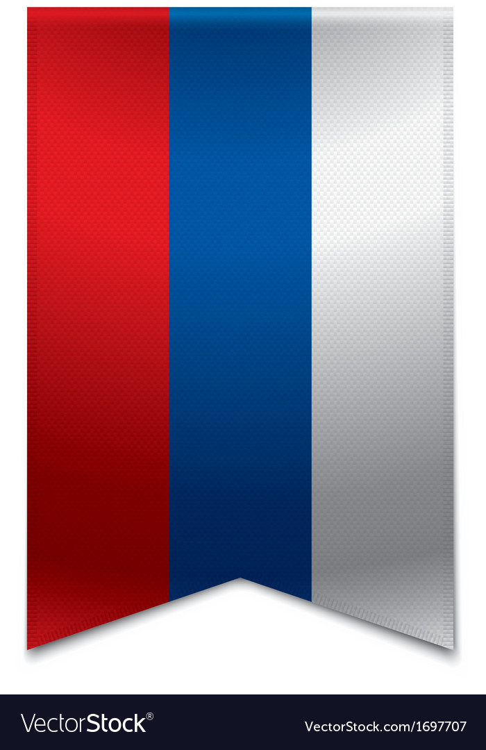 Ribbon banner - russian flag vector | Price: 1 Credit (USD $1)