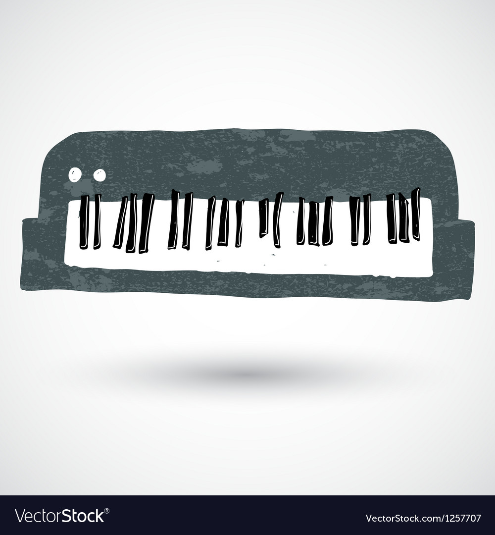 Sketch of a keyboard vector | Price: 1 Credit (USD $1)