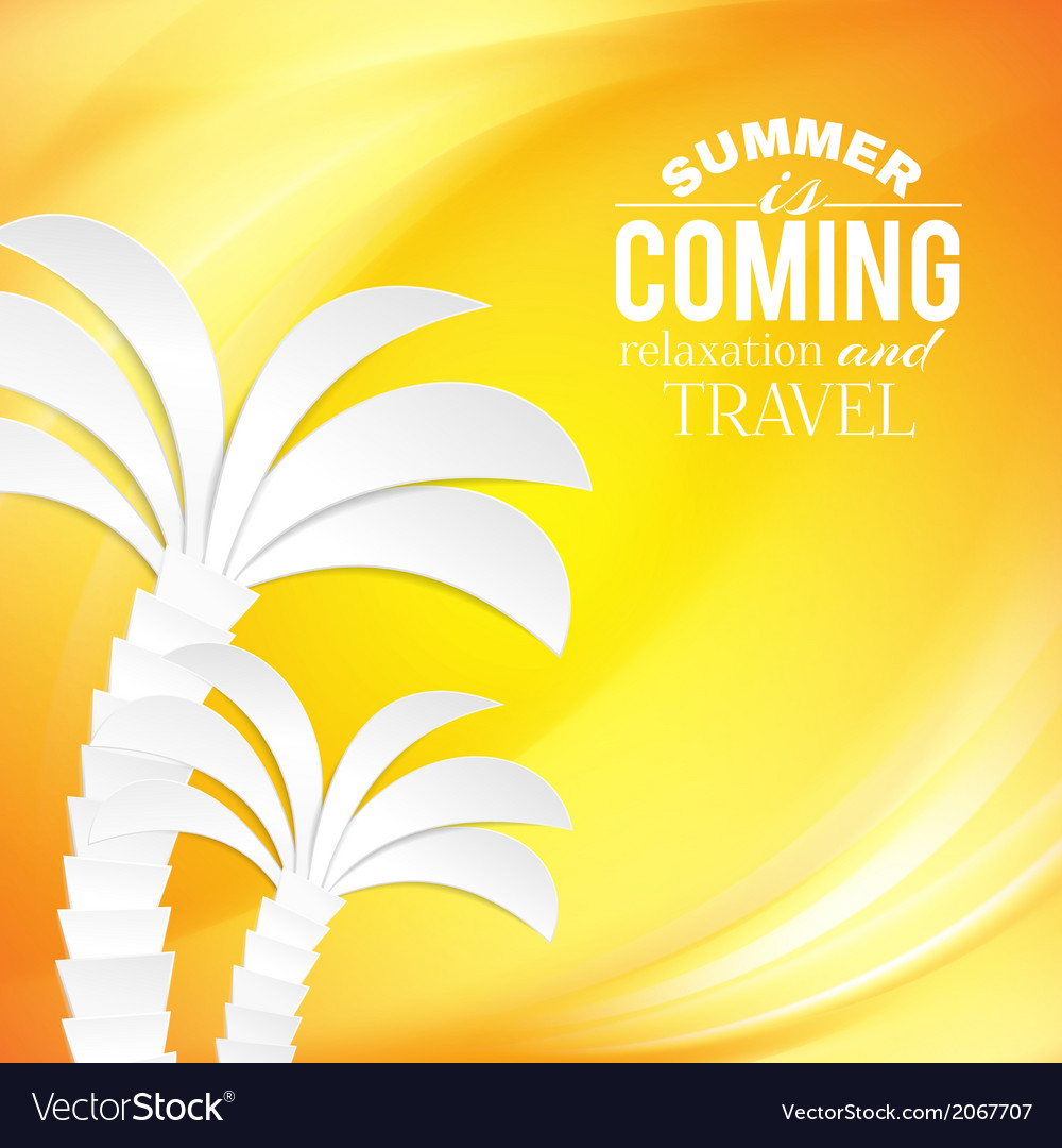 Summer background and tropical palm vector | Price: 1 Credit (USD $1)