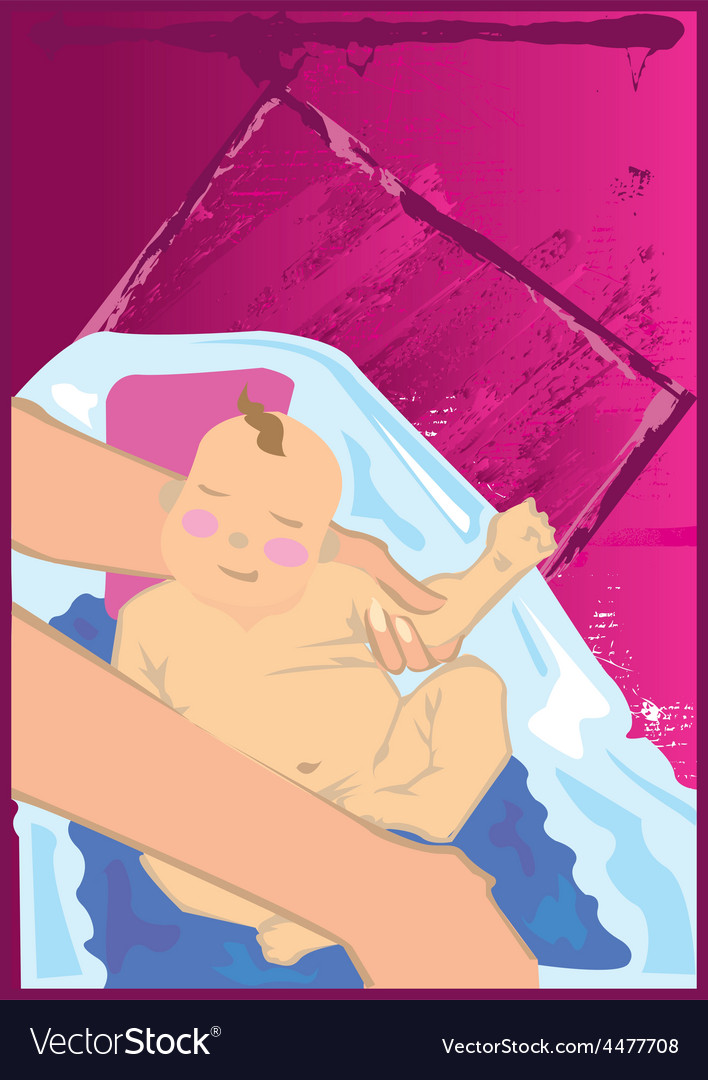 Baby bath vector | Price: 1 Credit (USD $1)
