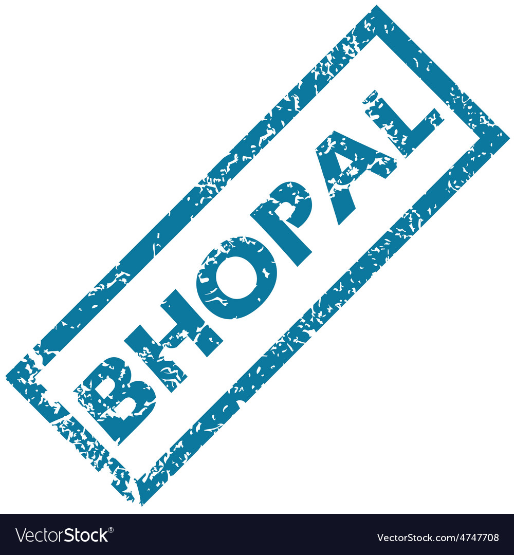 Bhopal rubber stamp vector | Price: 1 Credit (USD $1)