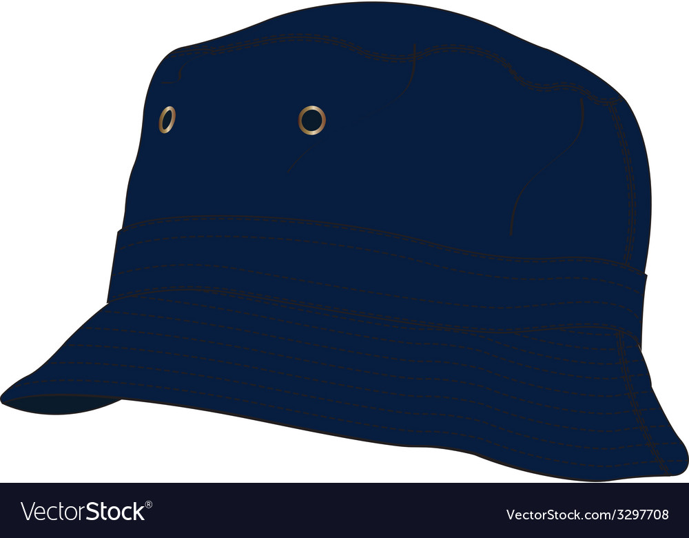 Bucket hat template vector | Price: 1 Credit (USD $1)