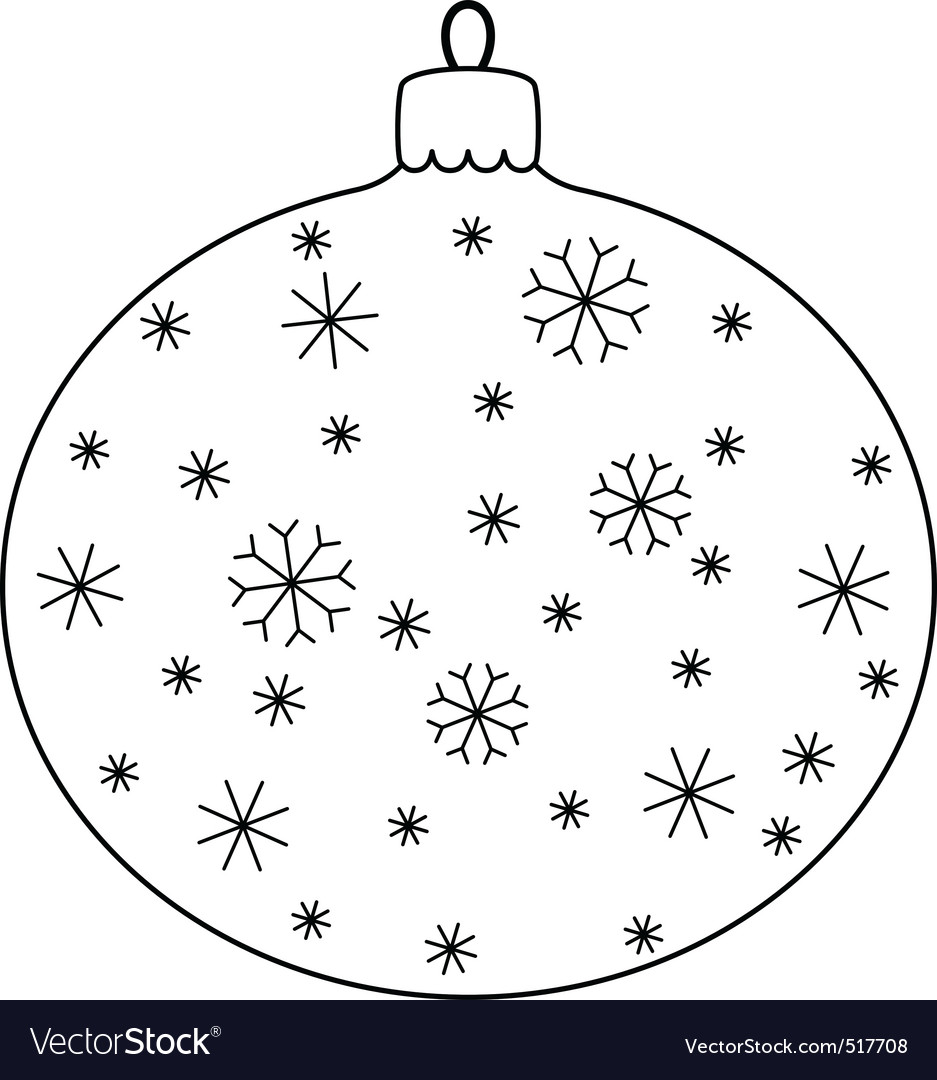 Christmas ball with snowflakes vector | Price: 1 Credit (USD $1)