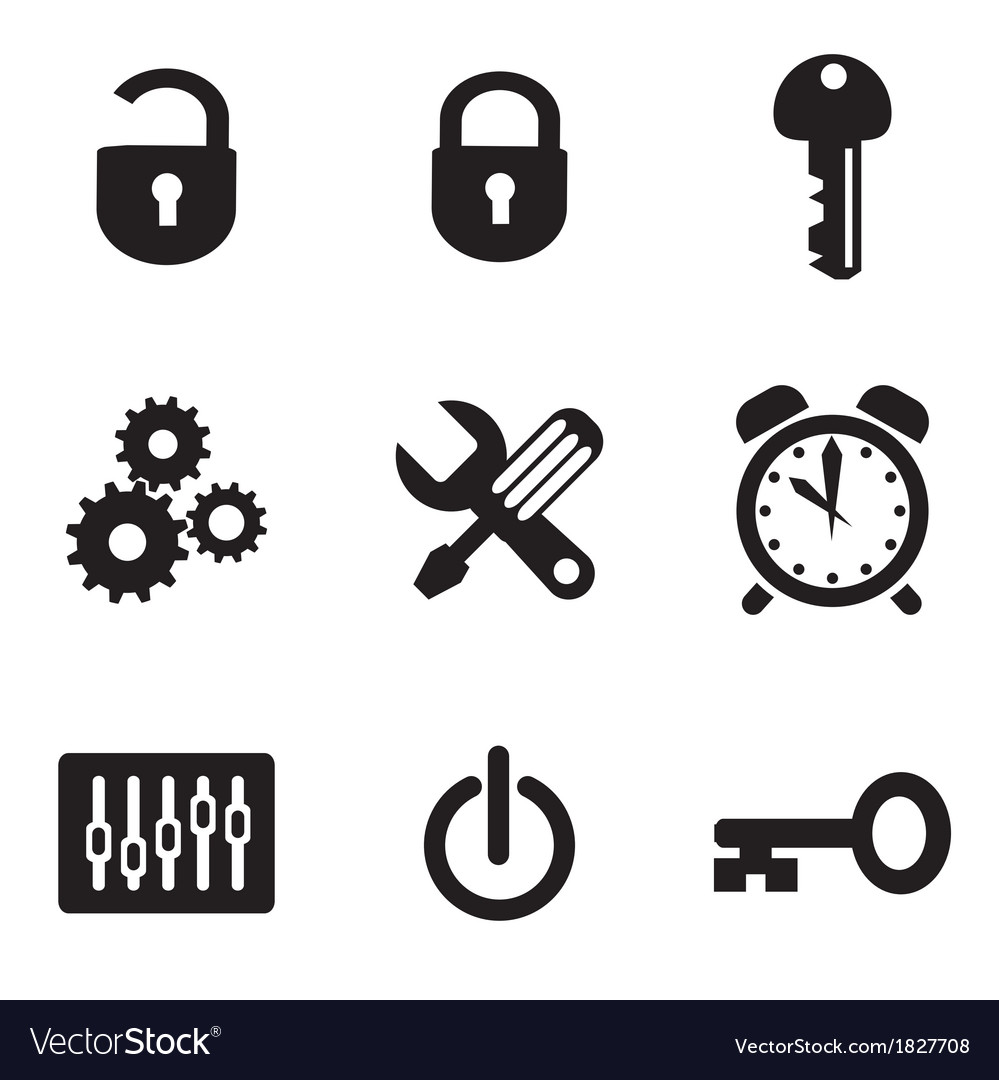 Computer icons set vector | Price: 1 Credit (USD $1)