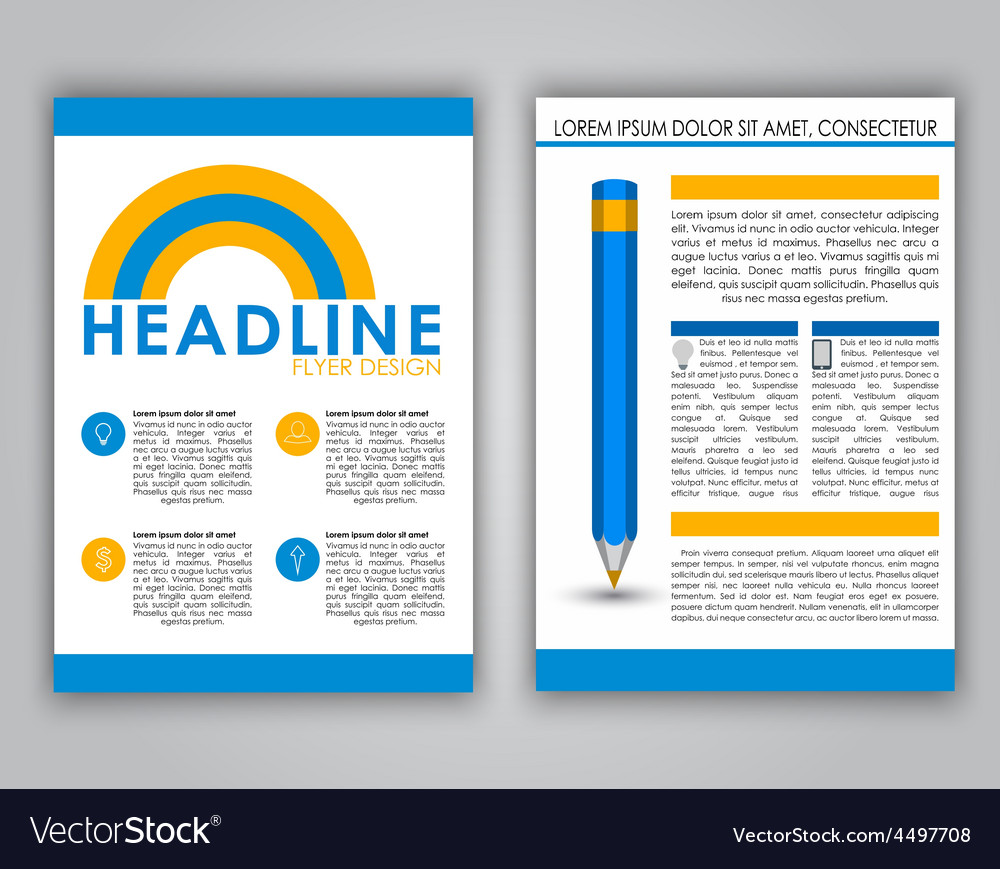 Design business flyer in a flat style vector | Price: 1 Credit (USD $1)