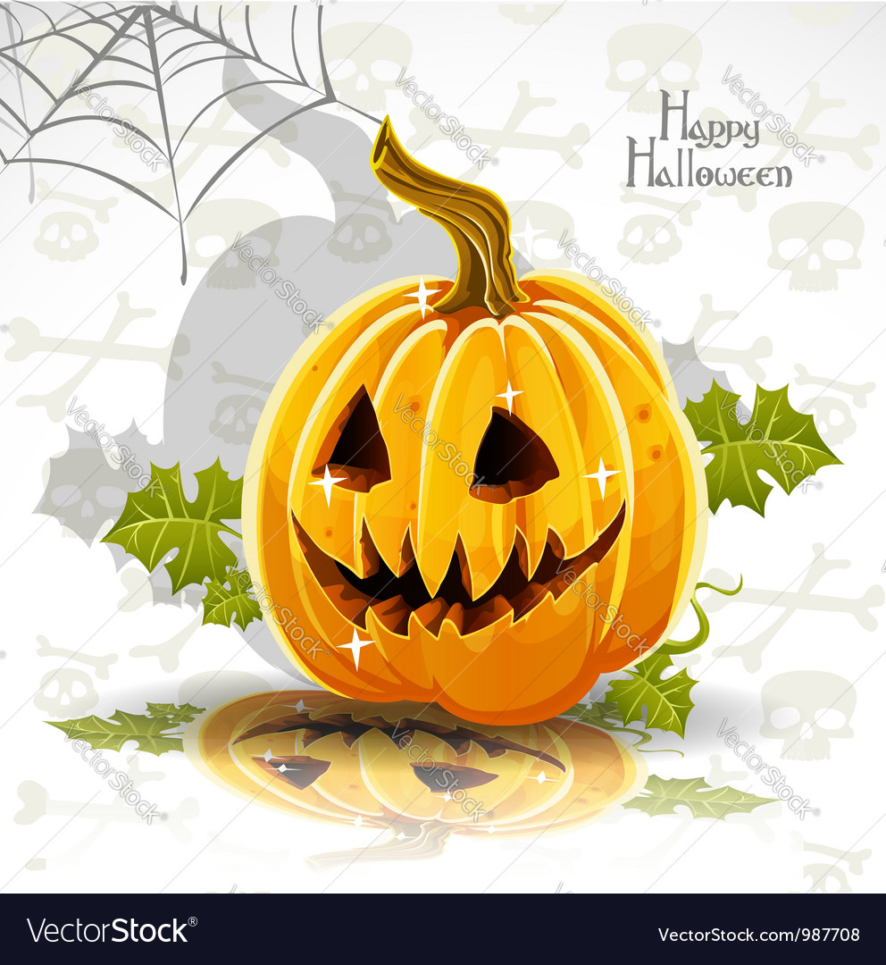 Halloween pumpkin poster vector | Price: 1 Credit (USD $1)