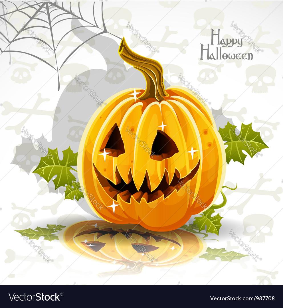 Halloween pumpkin poster vector | Price: 1 Credit (USD $1)