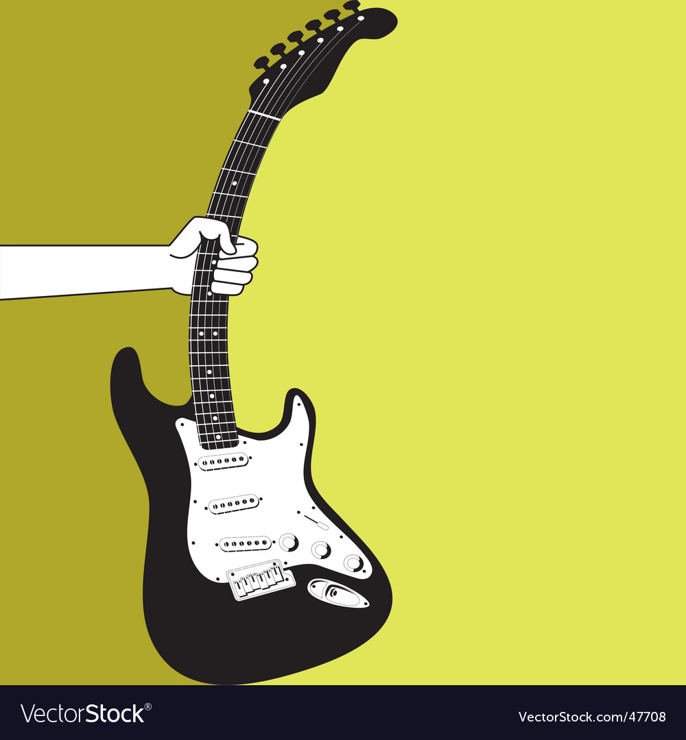 Hand and an electric guitar vector | Price: 1 Credit (USD $1)