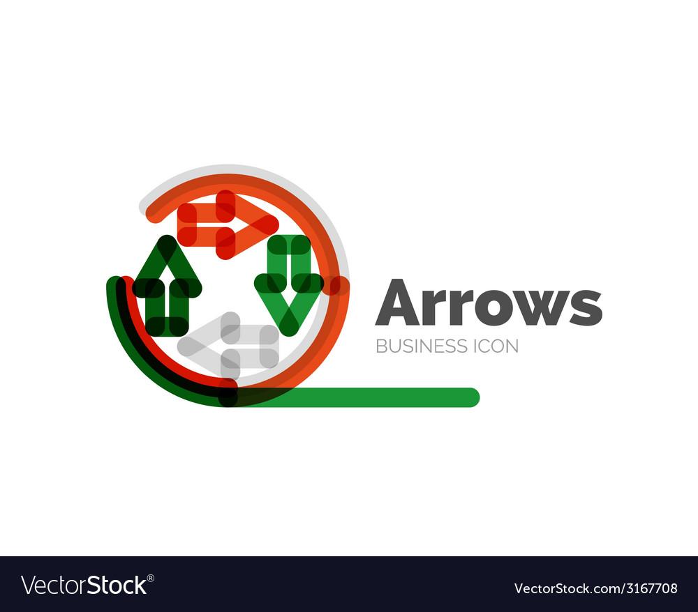 Line minimal design logo arrows vector   Price: 1 Credit (USD $1)