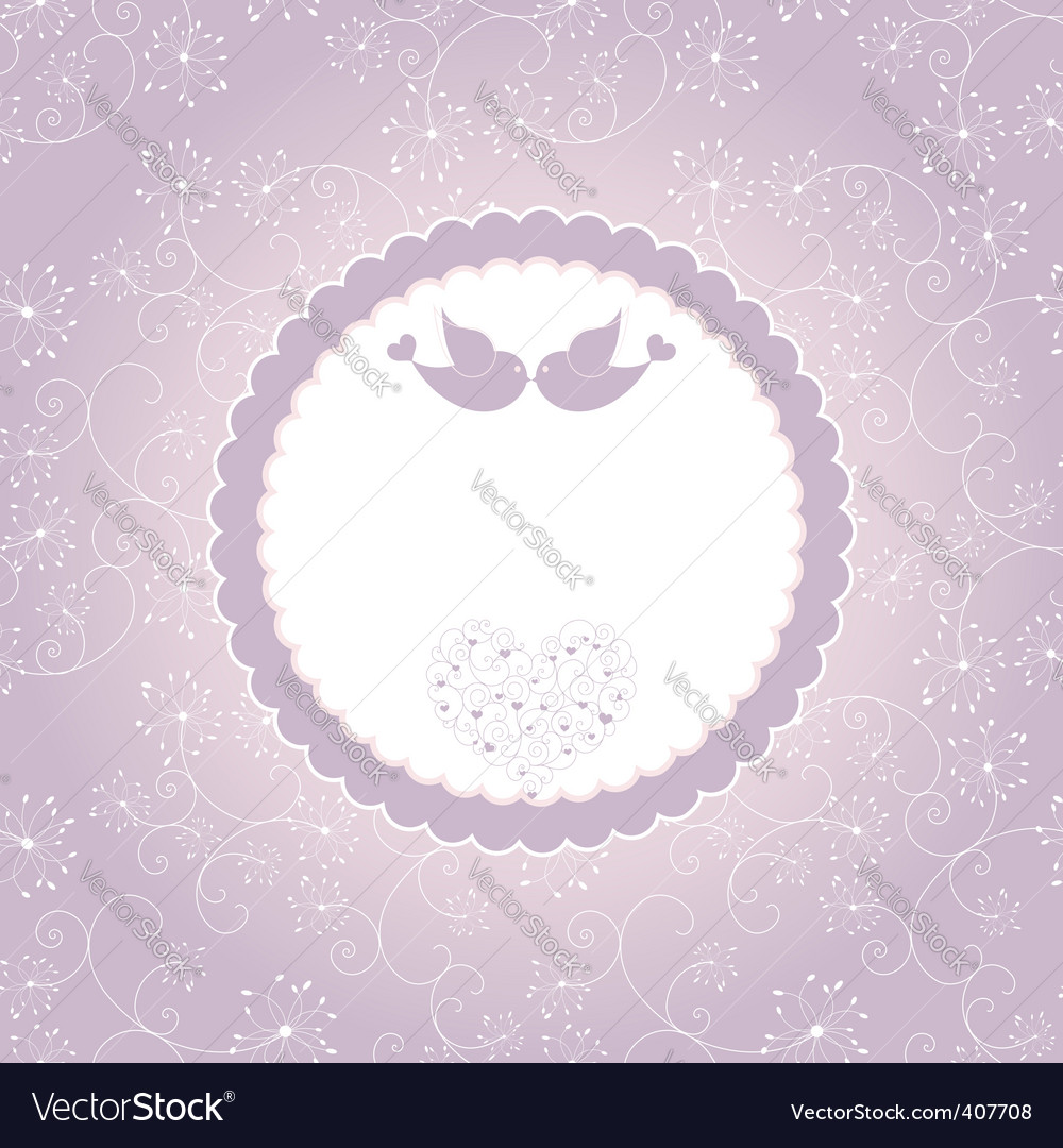 Lovebirds greeting card vector | Price: 1 Credit (USD $1)