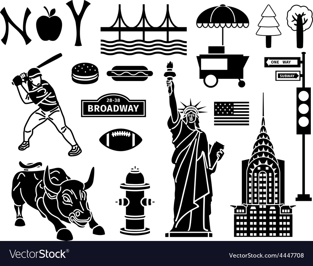 New york icons vector | Price: 1 Credit (USD $1)