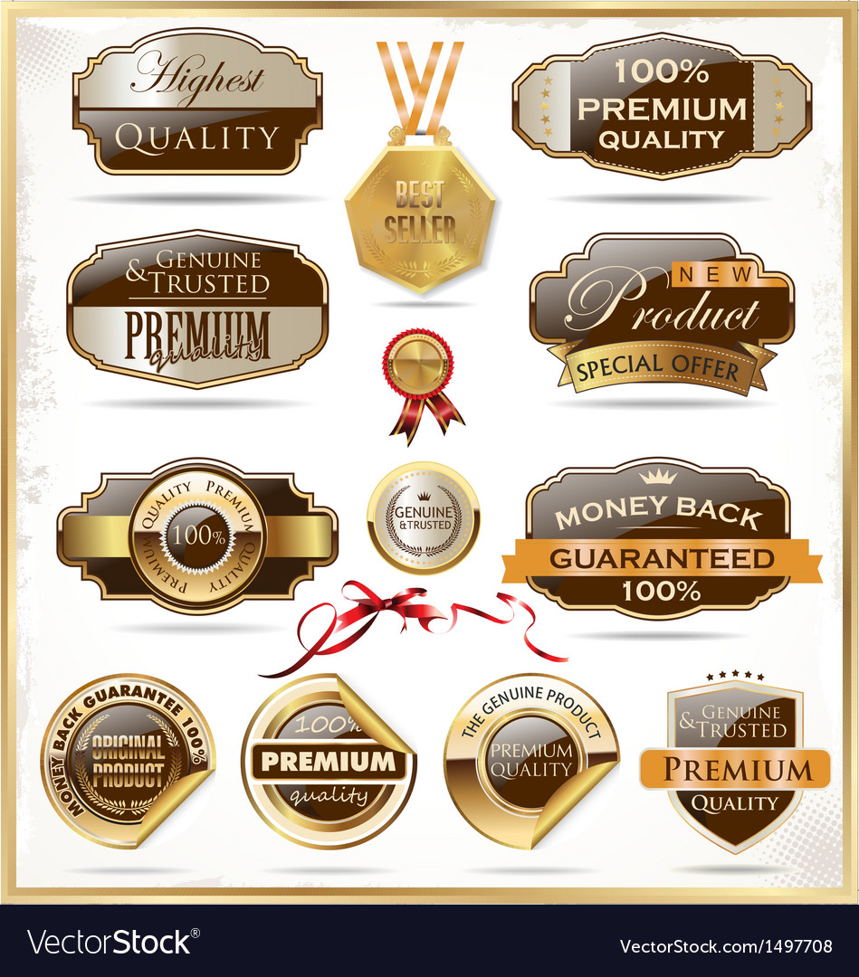 Premium quality labels vector | Price: 3 Credit (USD $3)
