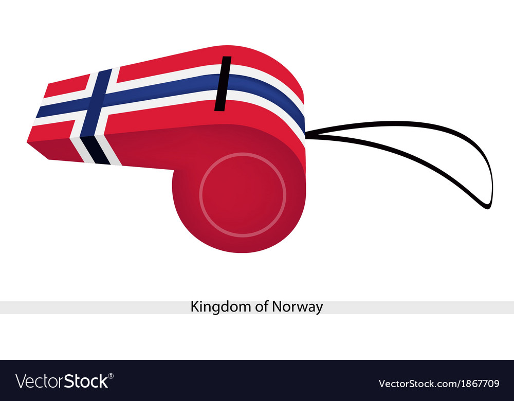 A whistle of the kingdom of norway vector | Price: 1 Credit (USD $1)
