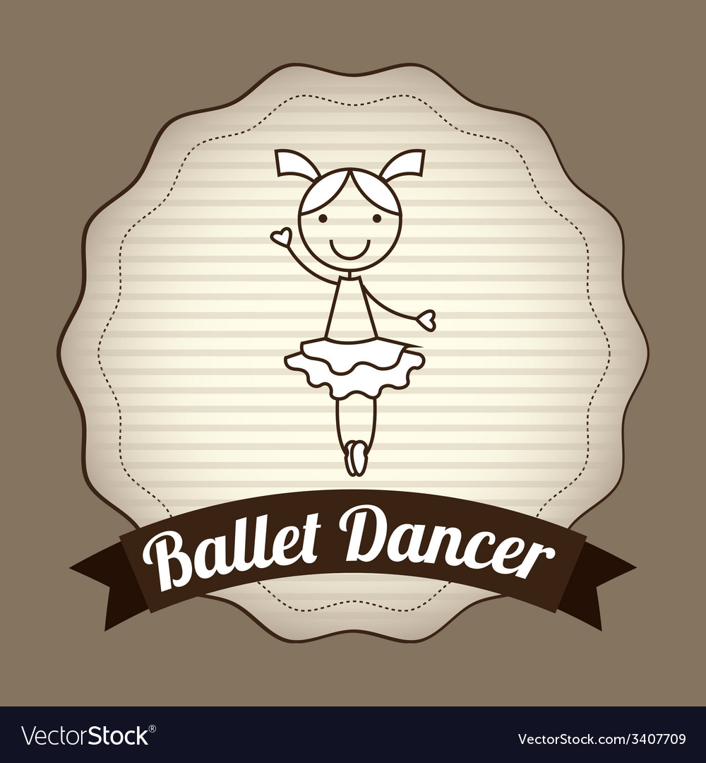 Ballet dancer design vector | Price: 1 Credit (USD $1)