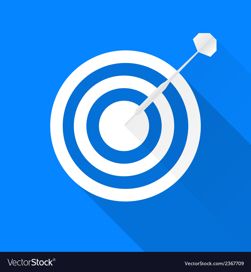 Darts target icon vector | Price: 1 Credit (USD $1)
