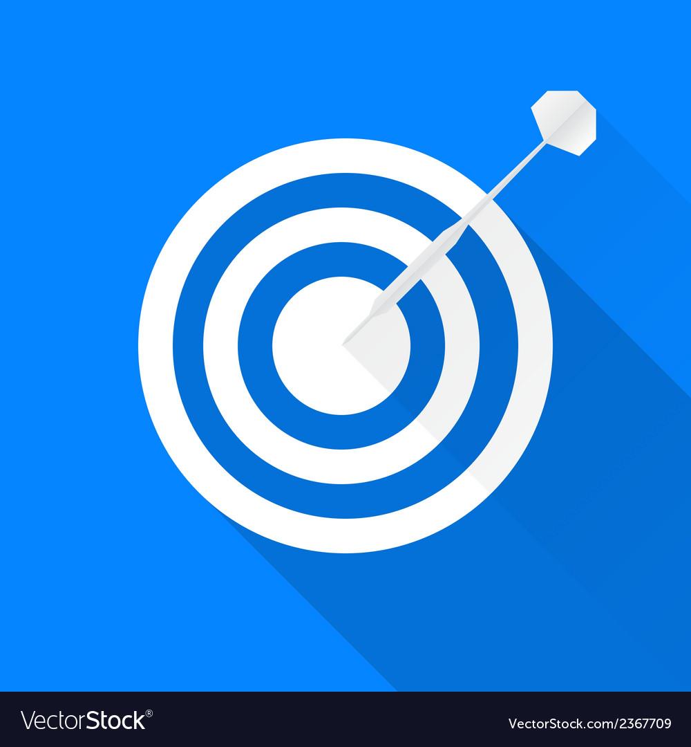 Darts target icon vector | Price: 1 Credit (USD $1)