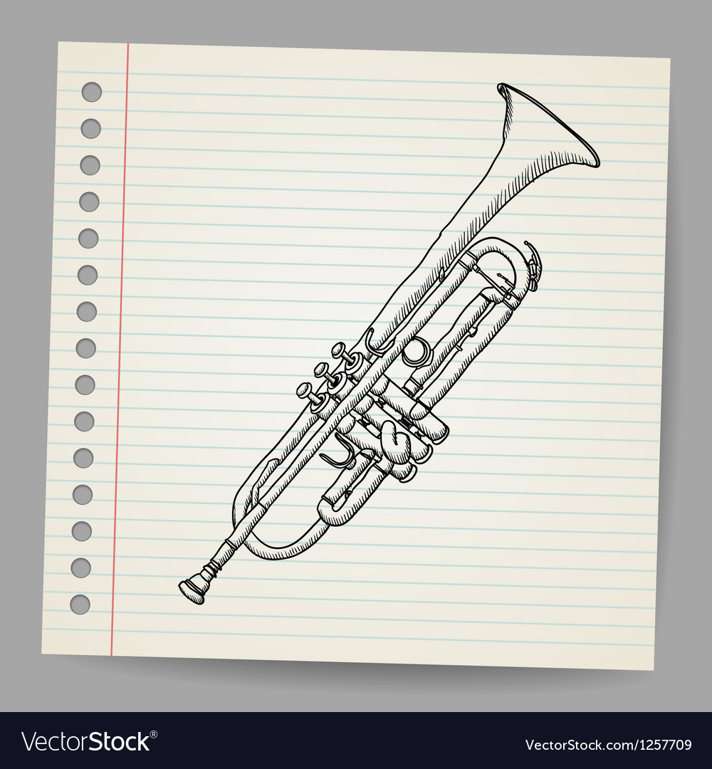 Doodle trumpet vector | Price: 1 Credit (USD $1)
