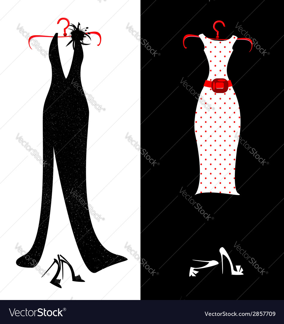 Dresses and shoes vector | Price: 1 Credit (USD $1)