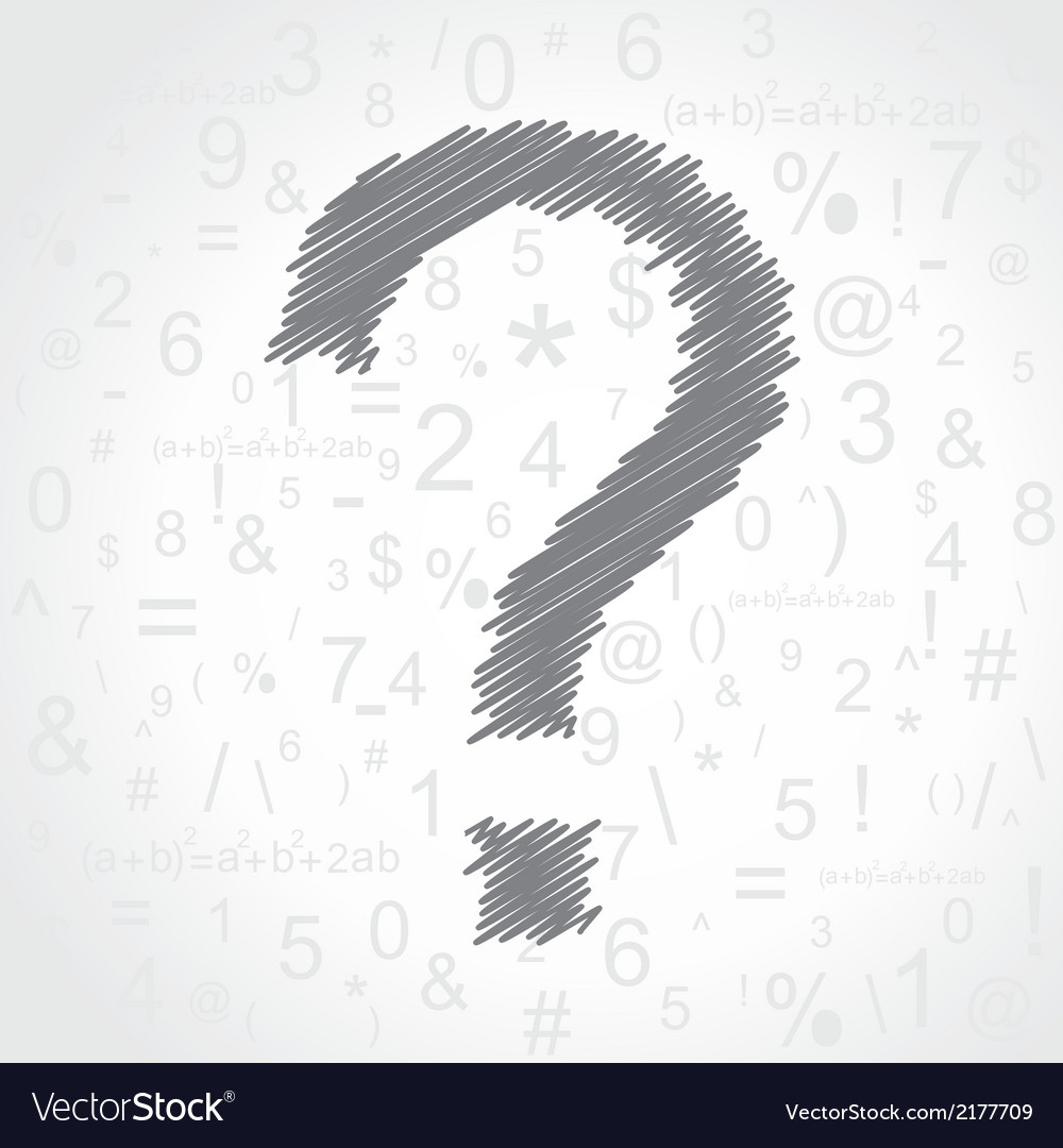 Hand drawn question mark background vector | Price: 1 Credit (USD $1)
