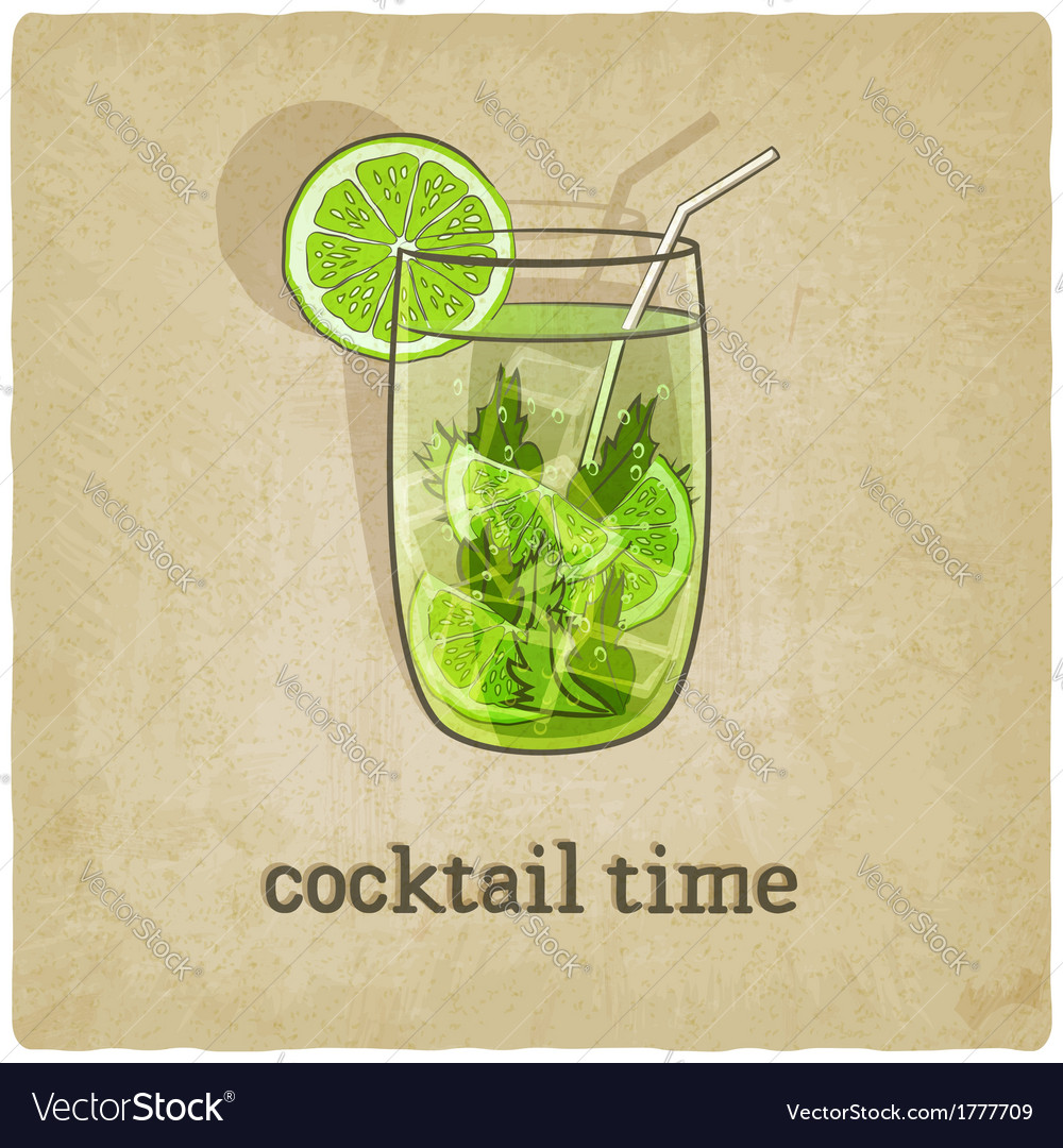 Old background with cocktail vector | Price: 1 Credit (USD $1)