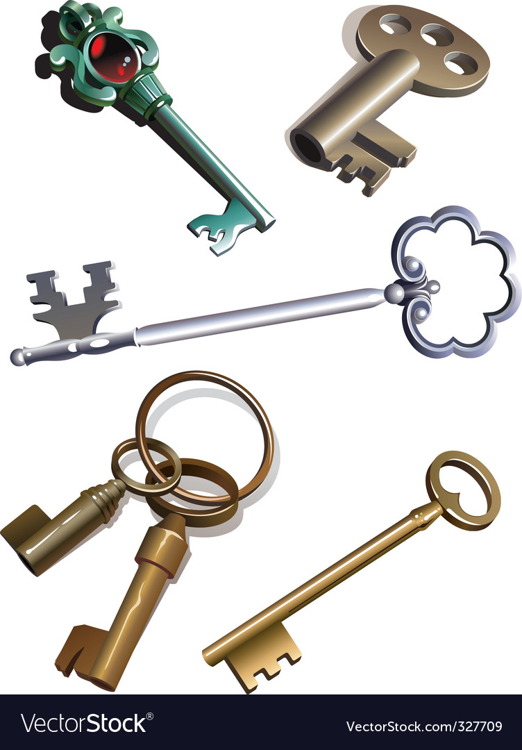 Old keys vector | Price: 3 Credit (USD $3)