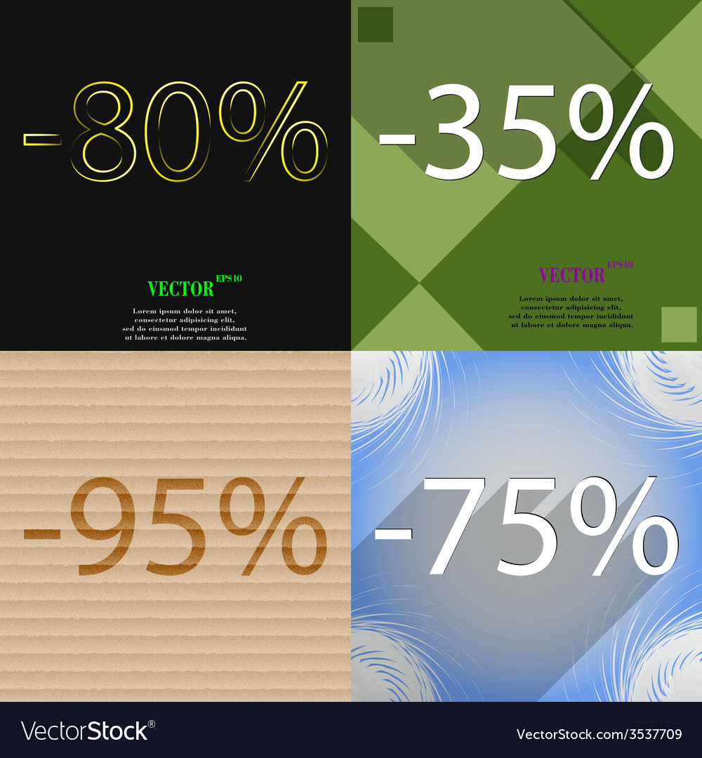 Set of holiday discounts store a percentage of vector | Price: 1 Credit (USD $1)