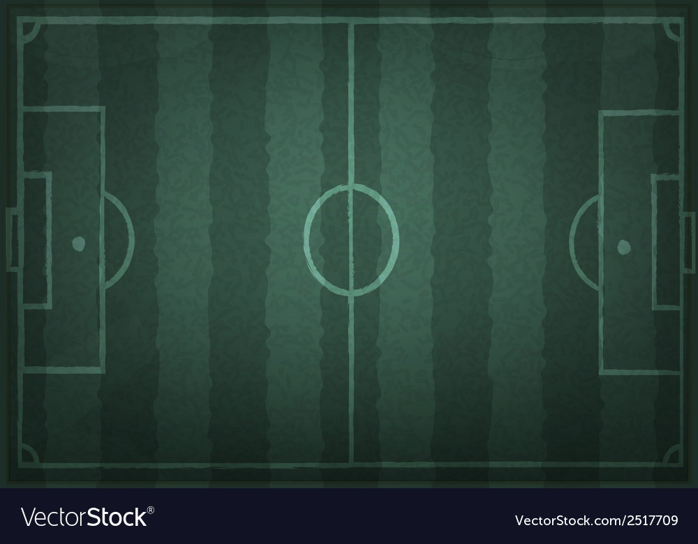 Soccer field with white lines on realistic vector   Price: 1 Credit (USD $1)