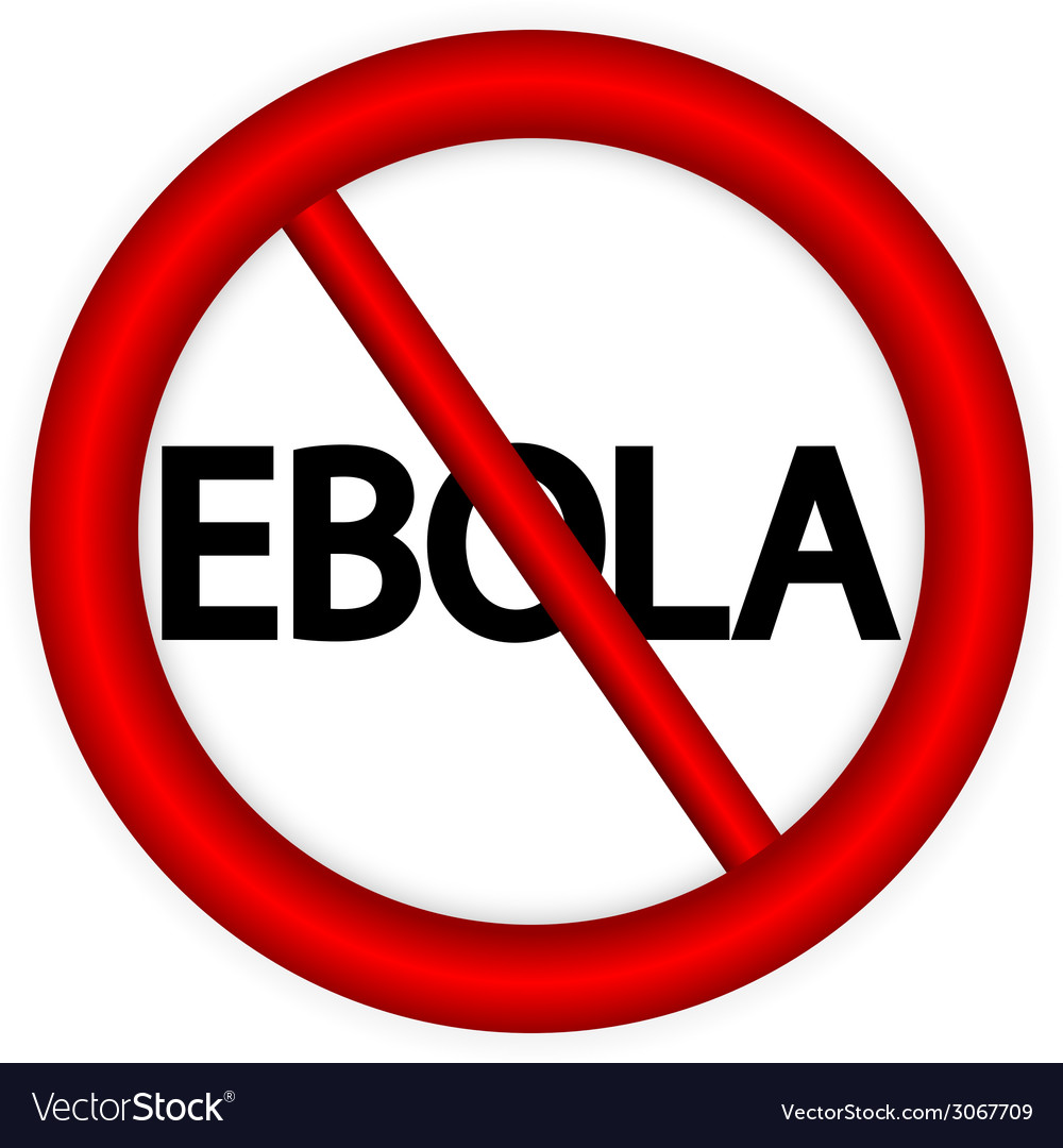 Stop ebola sign vector | Price: 1 Credit (USD $1)
