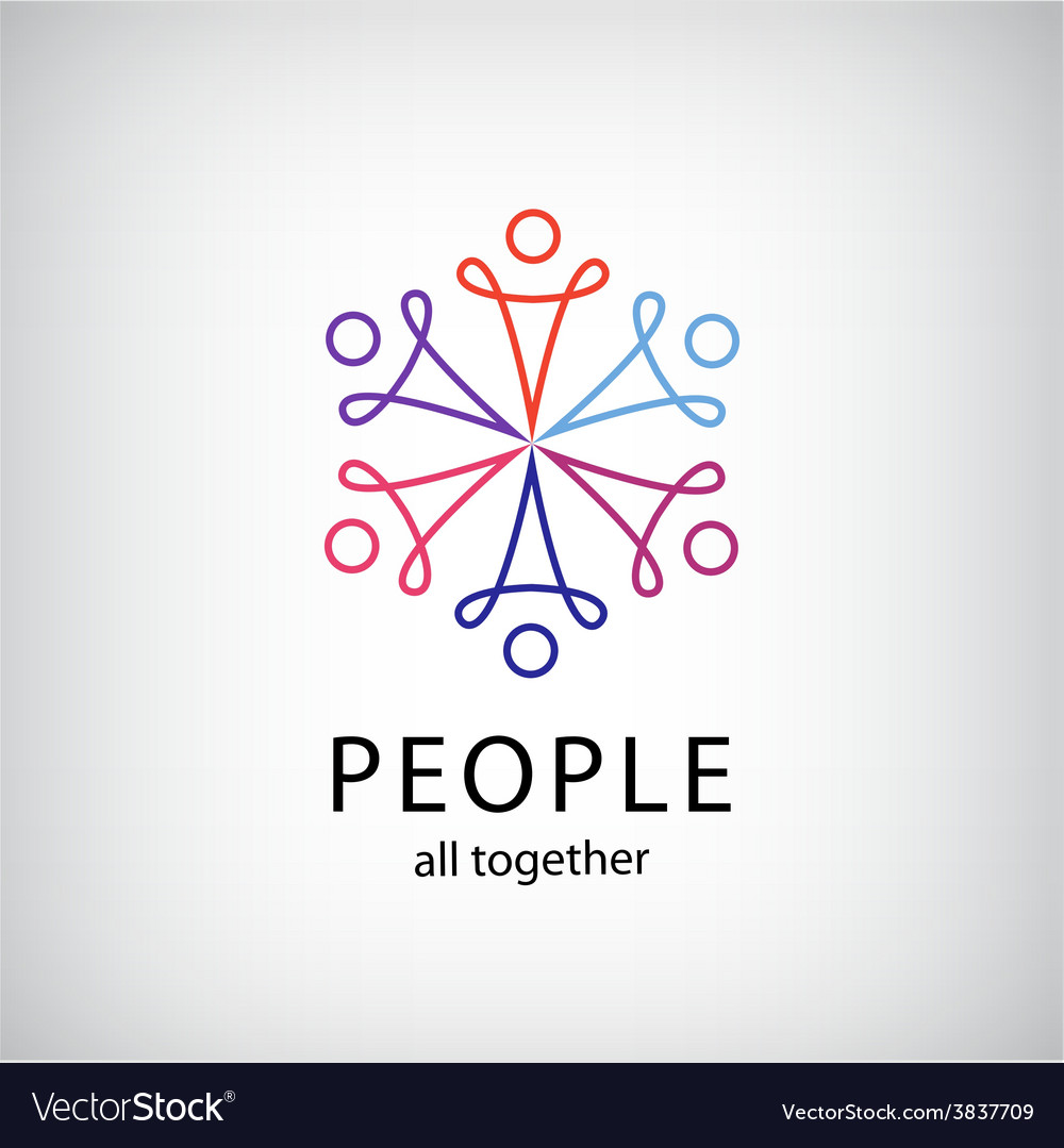 Teamwork social net people together icon vector | Price: 1 Credit (USD $1)