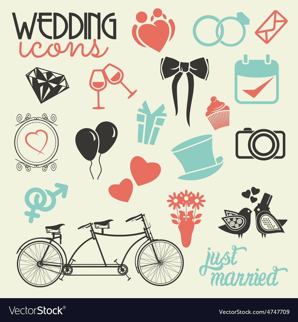 Wedding icons random resize vector   Price: 1 Credit (USD $1)
