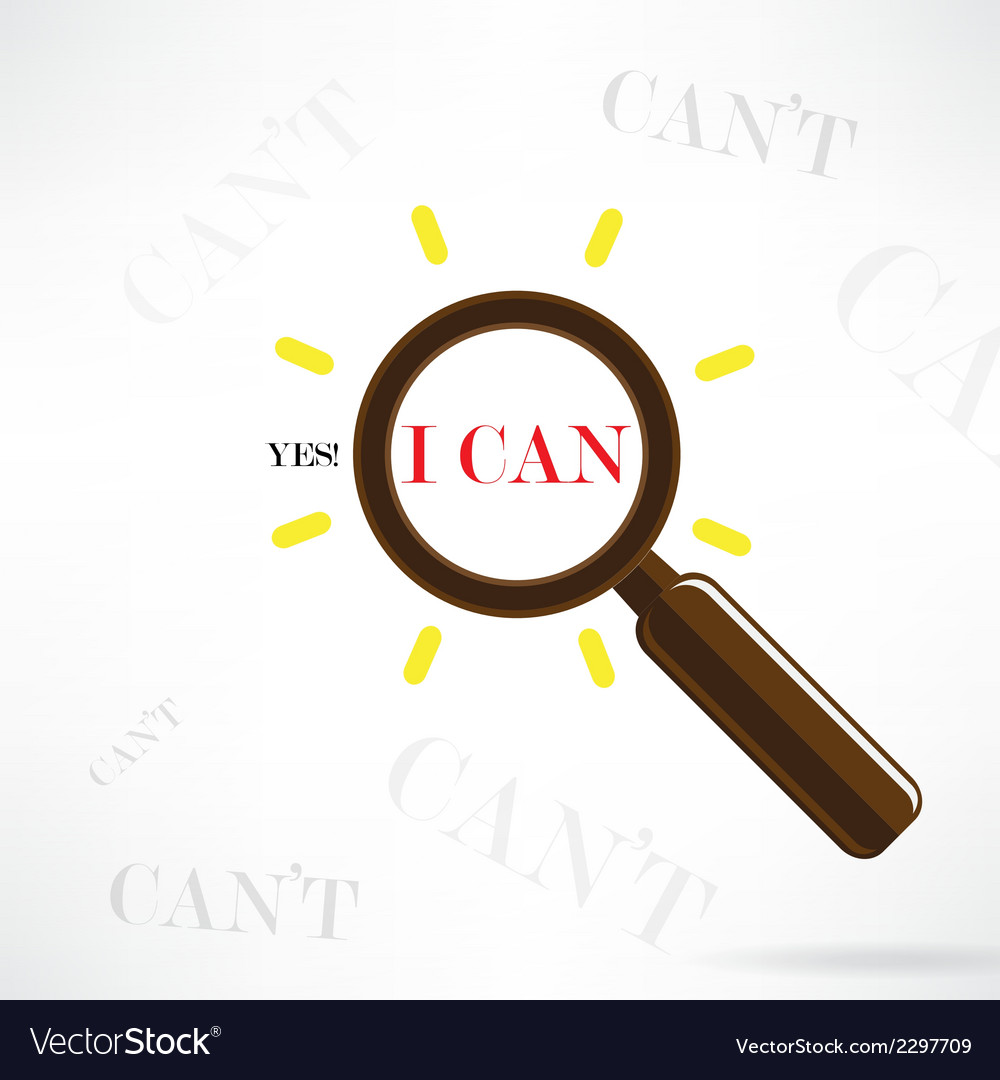 Yes i can concept vector | Price: 1 Credit (USD $1)