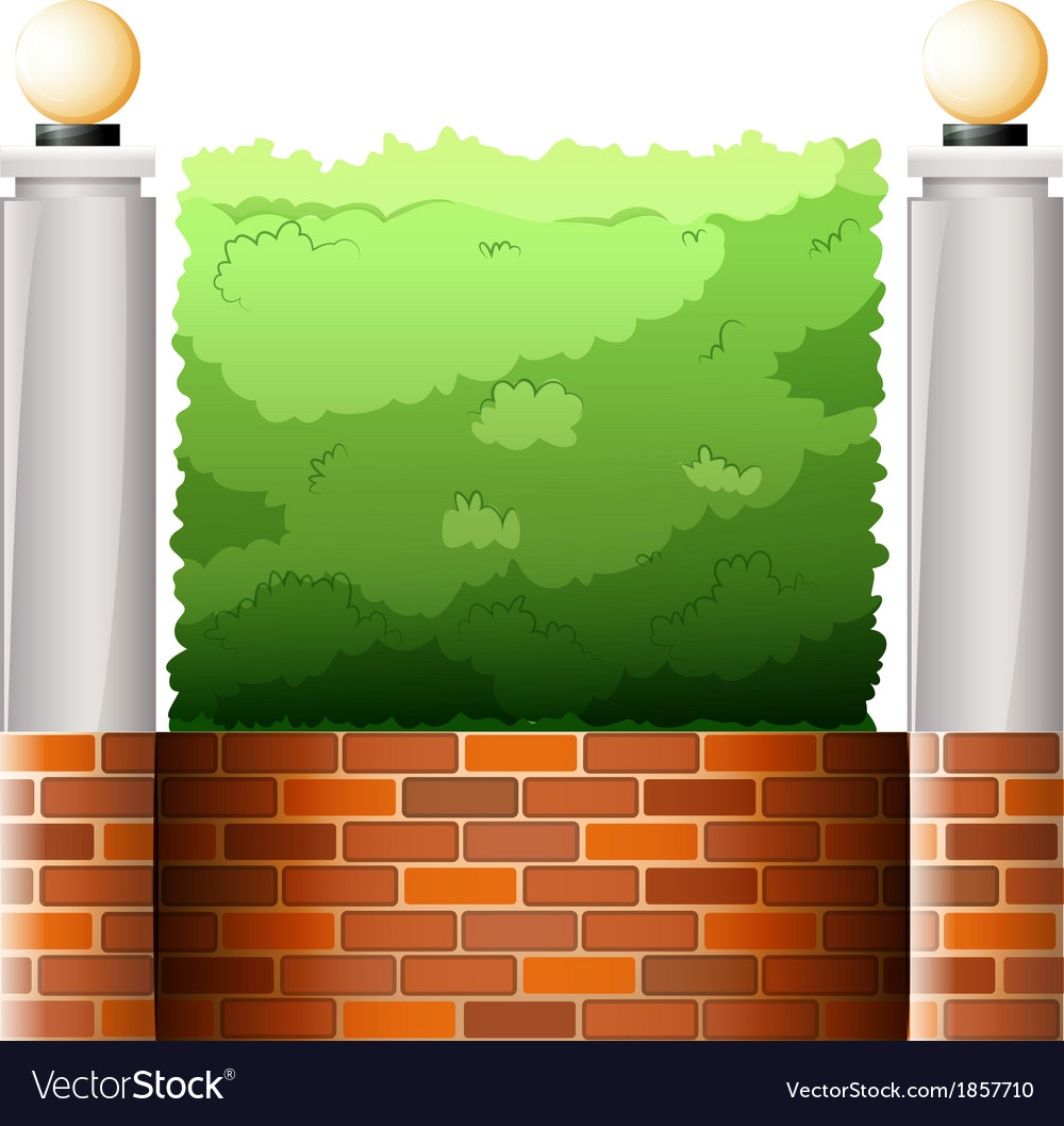A stonewall with lampshades vector | Price: 1 Credit (USD $1)