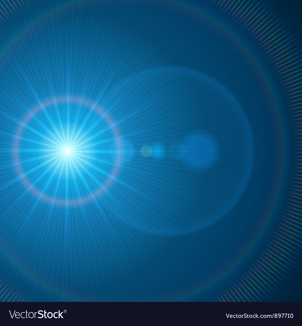Abstraction light with lens flare vector | Price: 1 Credit (USD $1)