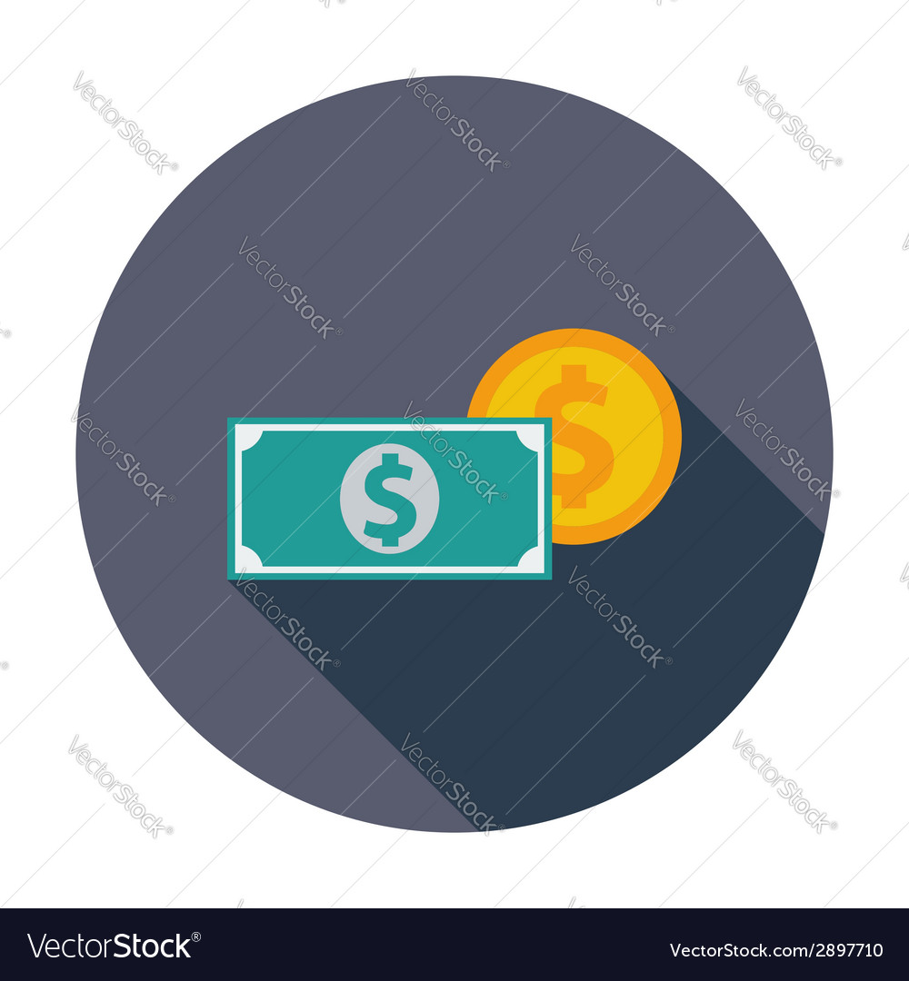 Dollar coin vector | Price: 1 Credit (USD $1)