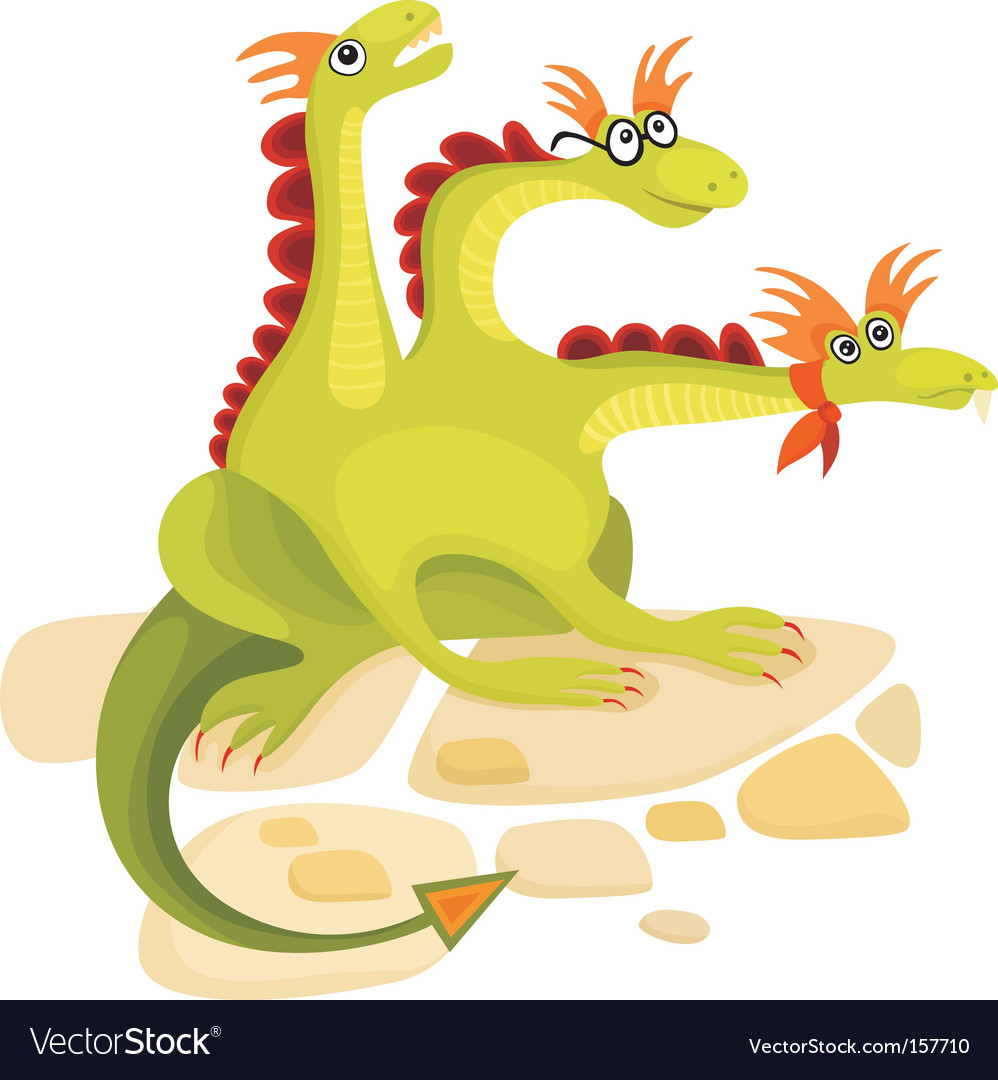Dragon cartoon vector | Price: 1 Credit (USD $1)