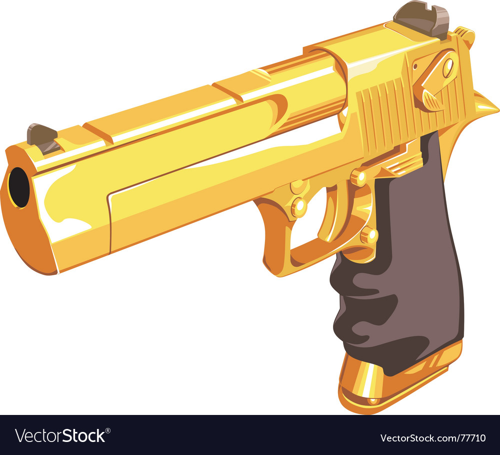 Golden glock vector | Price: 1 Credit (USD $1)