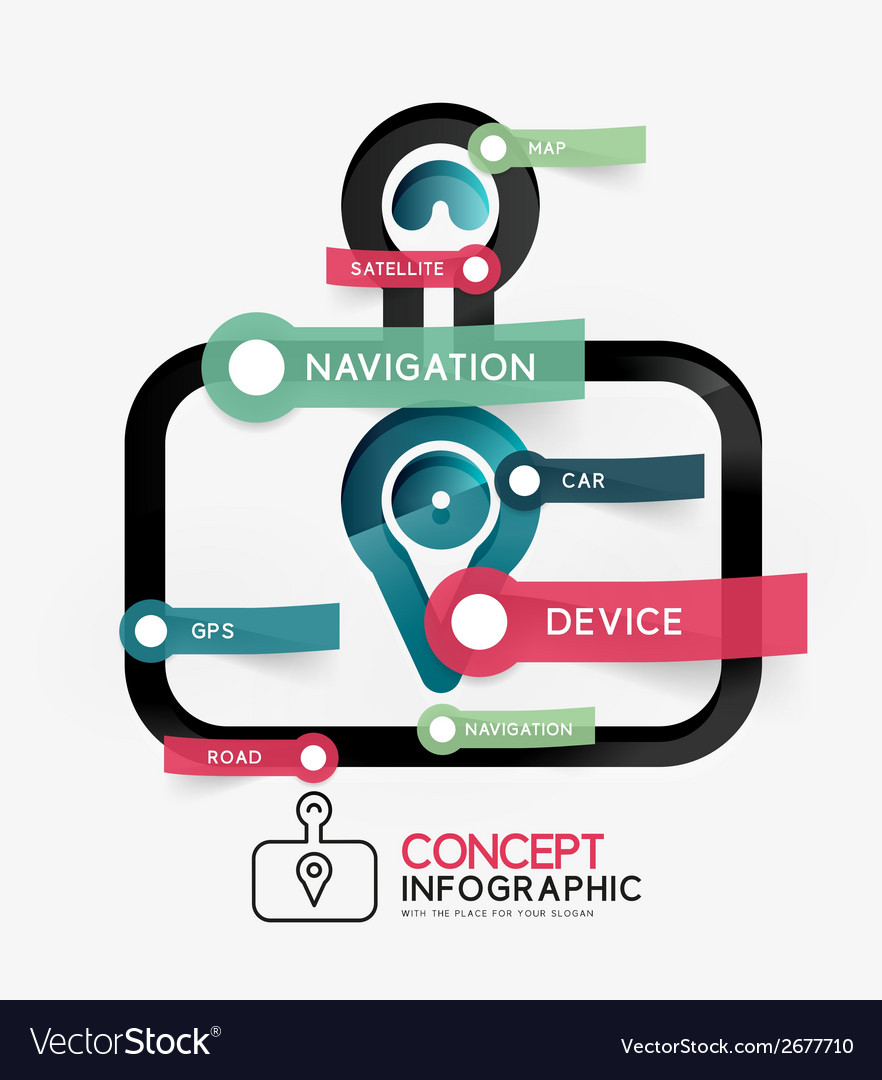 Gps navigator infographic concept vector | Price: 1 Credit (USD $1)