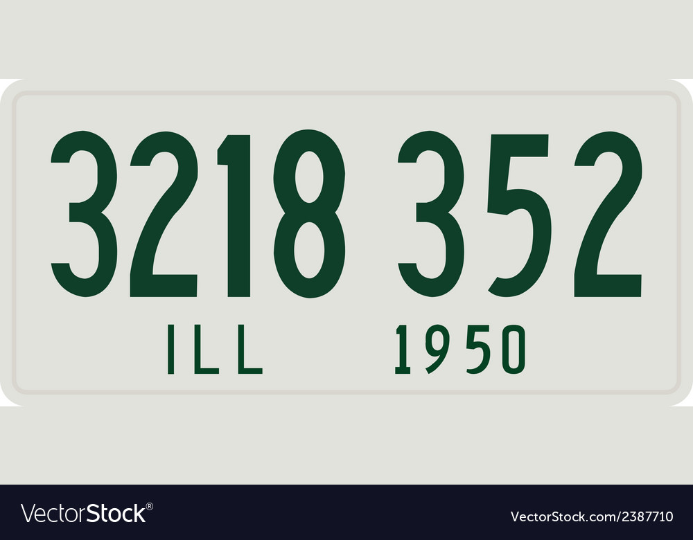 Illinois 1950 license plate vector | Price: 1 Credit (USD $1)