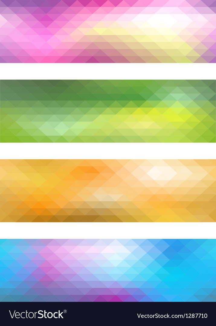 Mosaic banner set vector | Price: 3 Credit (USD $3)