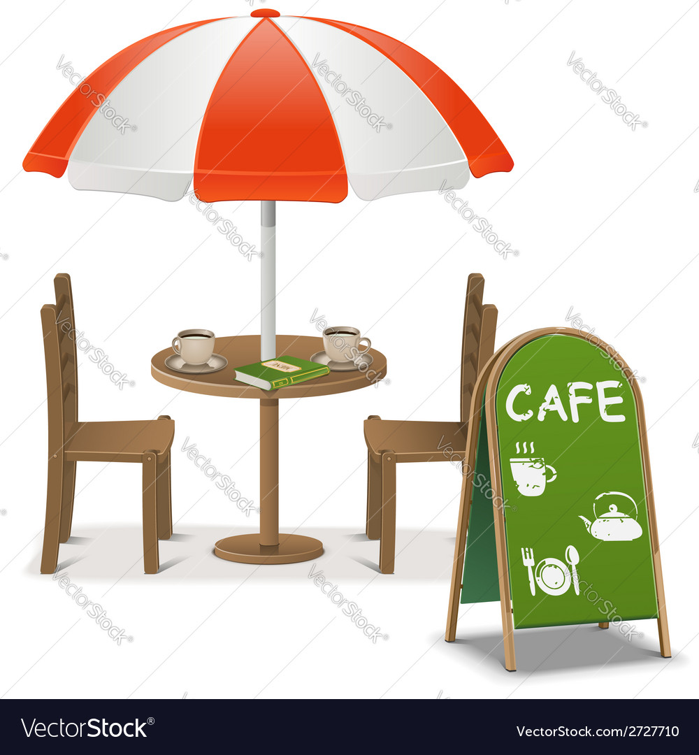 Outdoor cafe vector | Price: 1 Credit (USD $1)