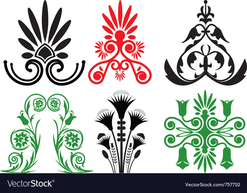 Pattern and ornament vector | Price: 1 Credit (USD $1)