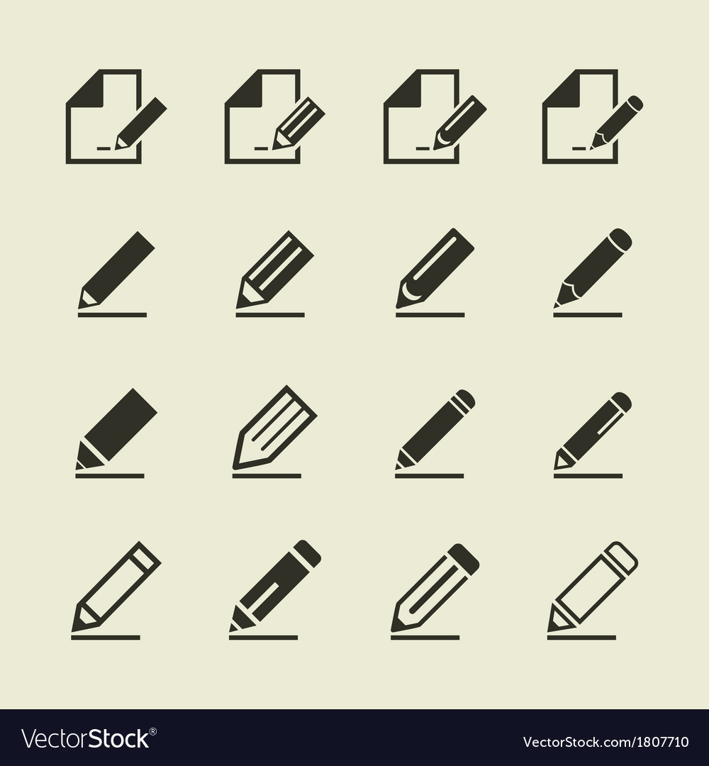 Pencil an icon vector | Price: 1 Credit (USD $1)