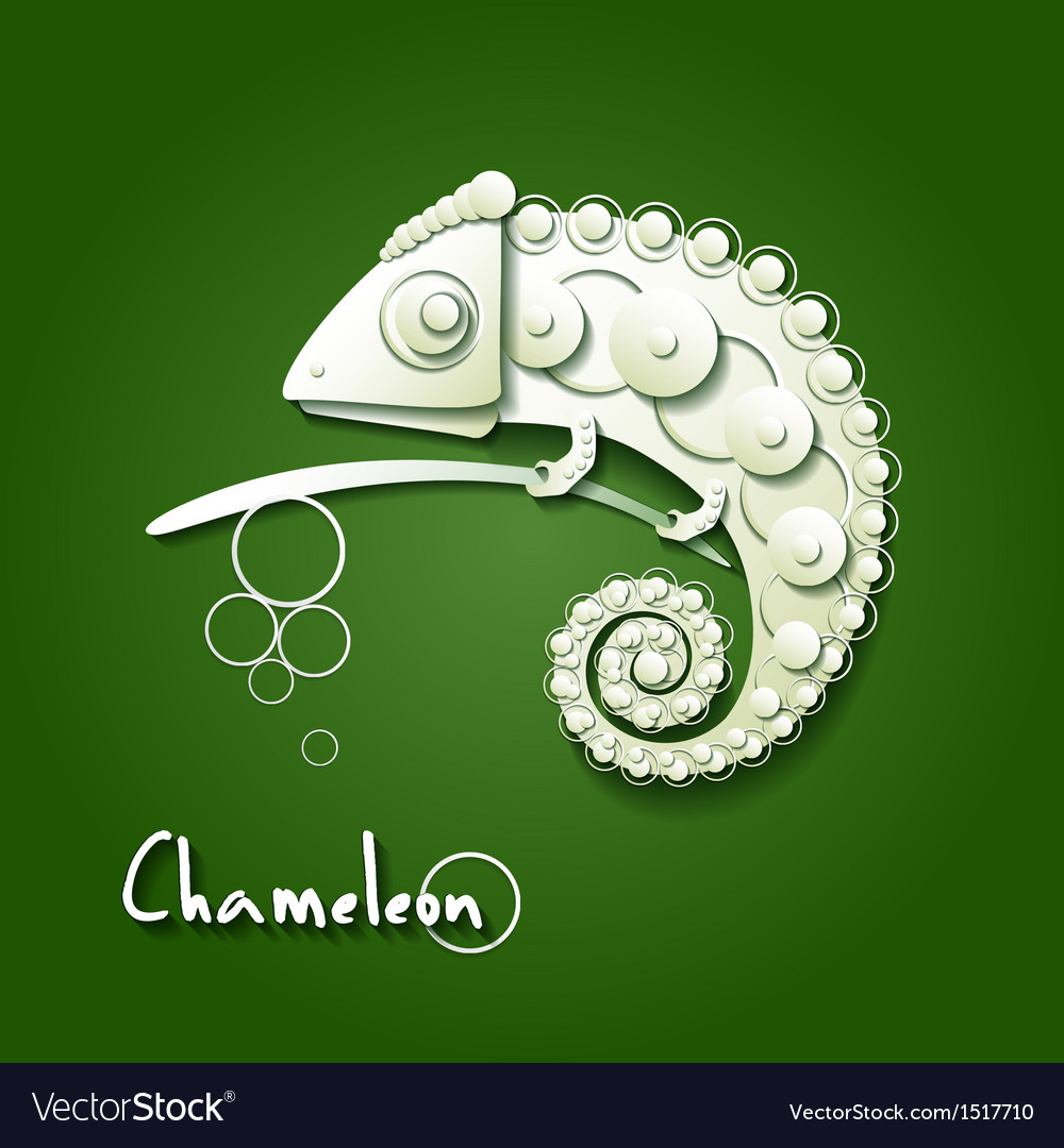Scrapbooking chameleon vector | Price: 1 Credit (USD $1)