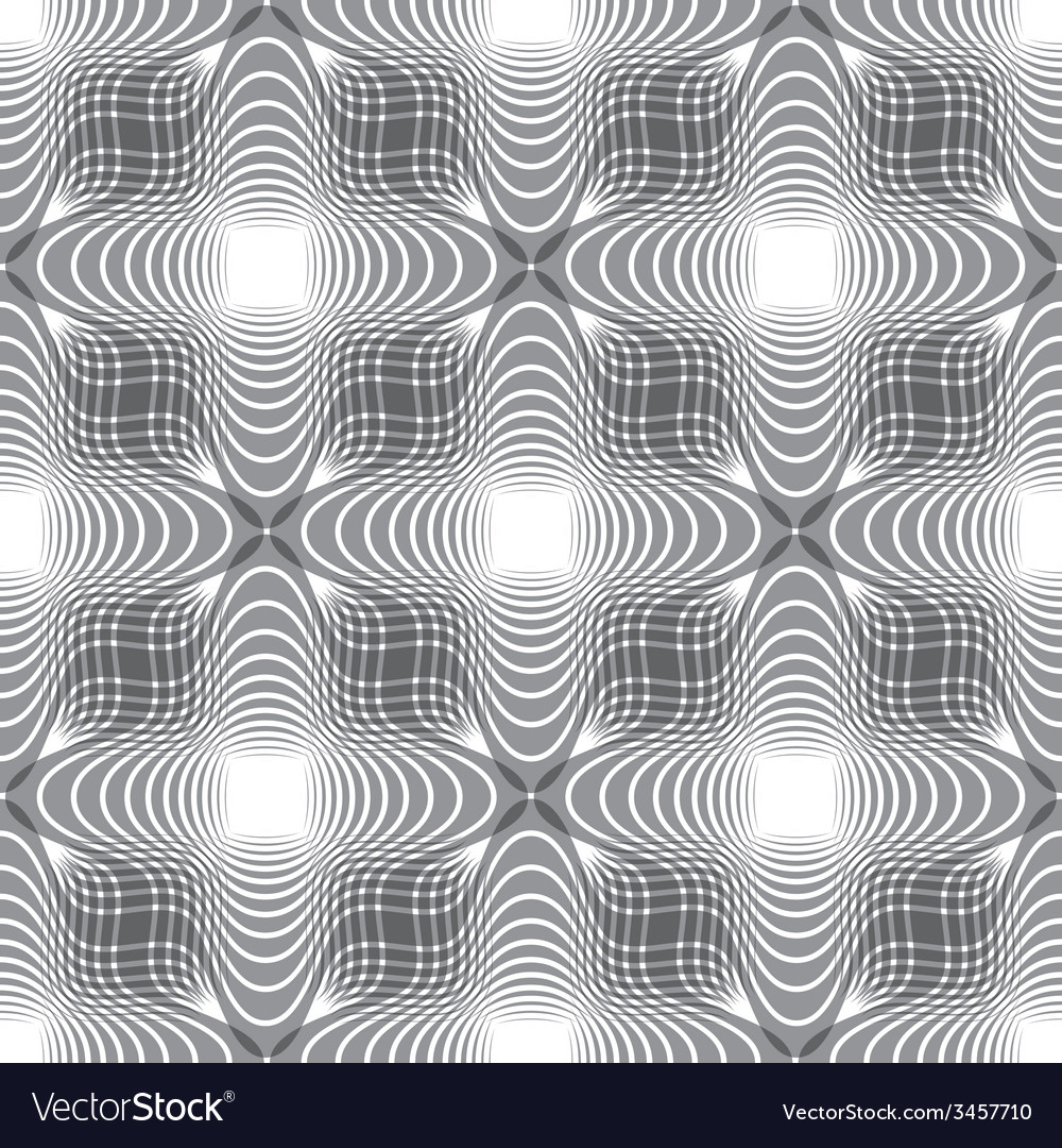 Seamless vintage floral background geometric lined vector | Price: 1 Credit (USD $1)