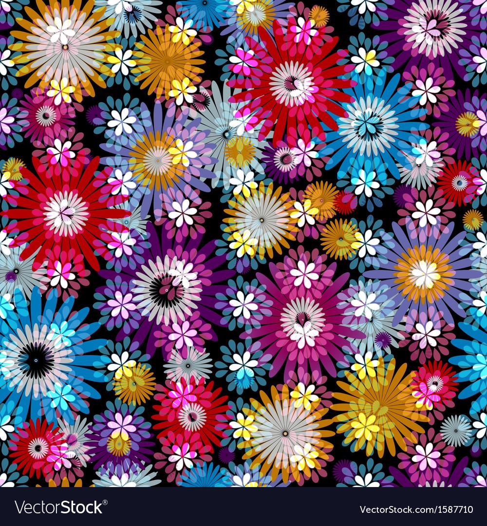 Seamless vivid floral spring pattern vector   Price: 1 Credit (USD $1)