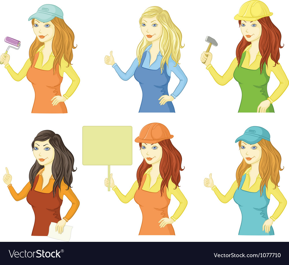 Set women professionals vector | Price: 3 Credit (USD $3)