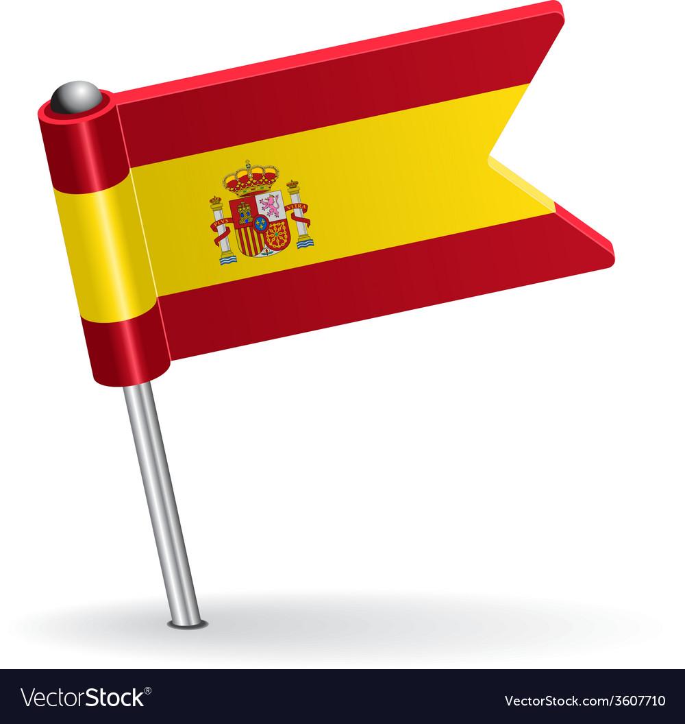 Spanish pin icon flag vector | Price: 1 Credit (USD $1)