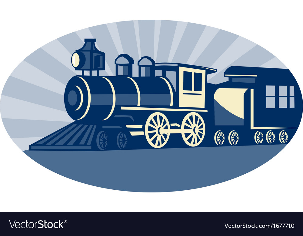 Steam train or locomotive vector | Price: 1 Credit (USD $1)