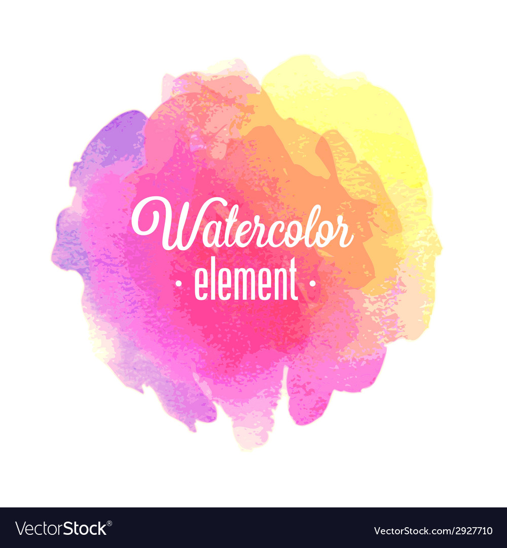 Watercolor element vector | Price: 1 Credit (USD $1)