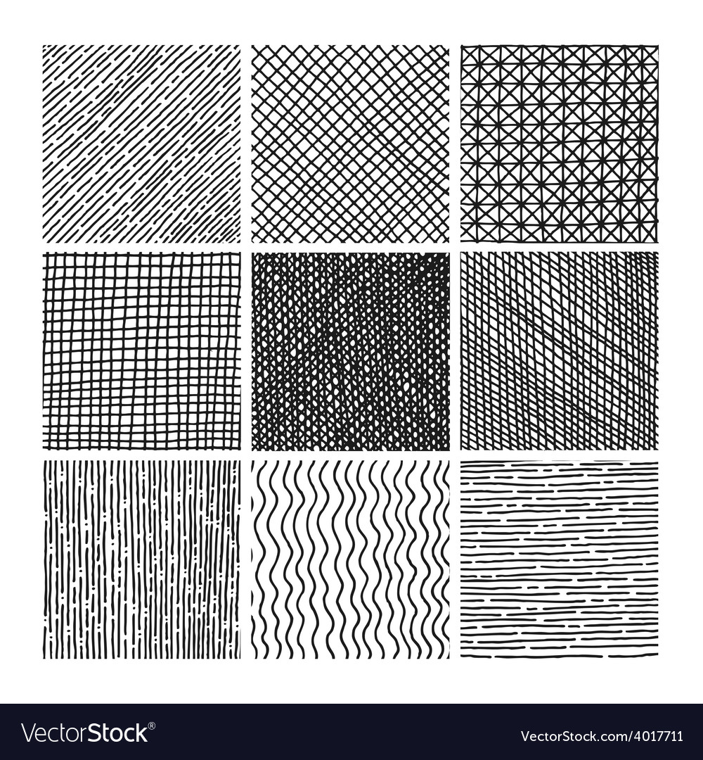 Collection ink hand drawn hatch texture vector | Price: 1 Credit (USD $1)